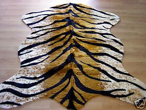 Tiger Rug Faux Fur Animal Skin Pelt Hide Rug 5x7 New Ebay