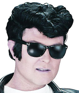 Black-Quiff-Wig-Elvis-1950S-Rock-And-Roll-Danny-Grease-T-Birds-Fancy-Dress