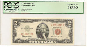 1963-2-LEGAL-TENDER-NOTE-RED-SEAL-PCGS-GEM-NEW-68PPQ