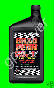 Brad Penn 20w50 Green Racing Motor Engine Oil W Zddp Zinc