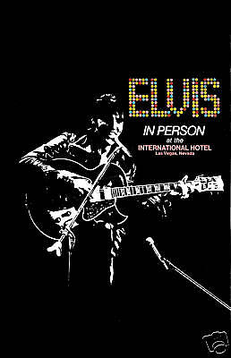 1960's  Elvis Presley  at the International Hotel Concert Poster  1969