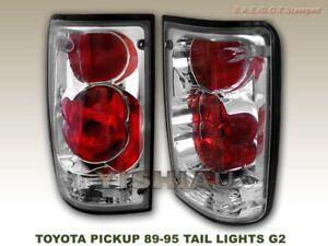 89-95 TOYOTA PICKUP TAIL LIGHTS CHROME G2 94 93 92 91