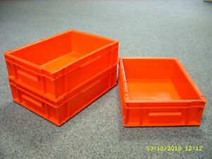 Image Is Loading 5 New Plastic Storage Crates Box Container 10l