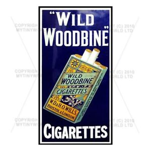 Mini Wild Woodbine Cigarette Shop Sign Circa 1910