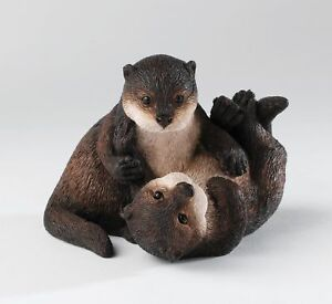 Country Artists Natural World Otter Duo Figurine 13444
