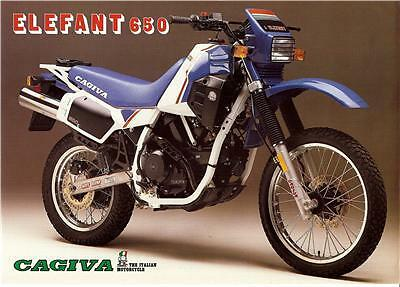 1986 Cagiva Elefant 650 Original Large Brochure