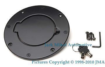 Black Aluminum Fuel Gas Tank Door Jeep Wrangler