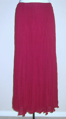 NEW-LADIES-PULL-ON-BERRY-CRINKLE-SKIRT-SIZE-16-18-L33