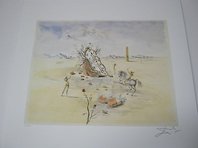 """Salvador Dali Lithograph """"Cosmic Horseman"""" Plate-Signed & Numbered"""