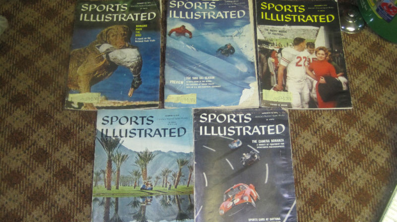 November 1959 Sports Illustrated set - 5 issues