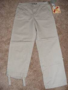New-CARIBBEAN-JOES-adjustable-length-beige-chinos-4P