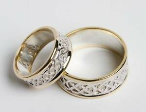 Image Is Loading Pair Set Of Irish Handcrafted 14k Gold And