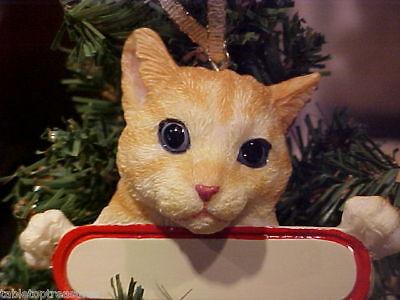 CAT ~ ORANGE TABBY ORNAMENT #8