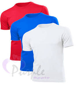 3 Pack Cotton Tshirts All Colours + Sizes Brand New ***