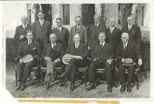 1931 President HERBERT HOOVER + Cabinet Wire Photograph | eBay