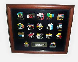1996 ATLANTA OLYMPICS DAYS & NIGHTS 17 PIN FRAMED SET