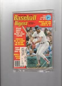 1982-Baseball-Digest-magazine-Carney-Lansford-Boston-Red-Sox-baseball