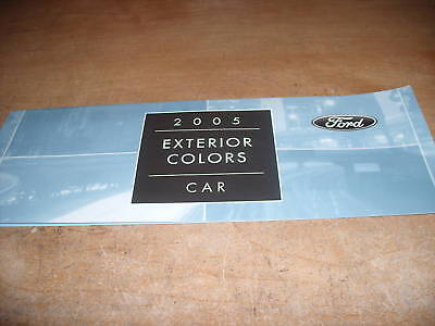 2005 Ford Mustang Focus Thunderbird Taurus Color Chart