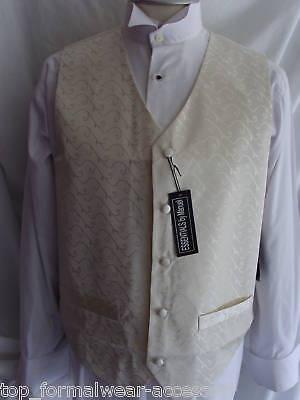 Ivory-Mens-Silk-Wedding-Formal-Waitcoat-34-to-54-Chest-P-P-2UK-1st-Class