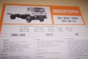 BEDFORD-1976-KGL5-Diesel-Truck-Spec-Sheet-GM-NZ
