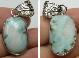 #3 27.00ct or 5.40g Dominican Republic 100% Natural Larimar Cabochon Pendant