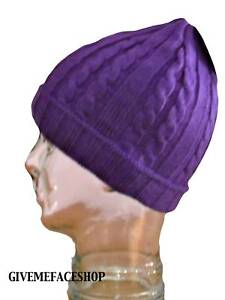 BRAND-NEW-PURPLE-ROLEY-KNITTED-BEANIE-WOOLY-HAT-CAP