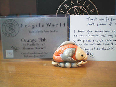 Harmony Kingdom Martin Perry's Fragile World Orange Fish UK Made Figurine LE 250