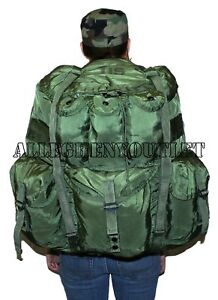 LARGE OD ALICE Field Pack Nylon BUG OUT BAG LC-1 w  FRAME Rucksack ... 9937f9fea
