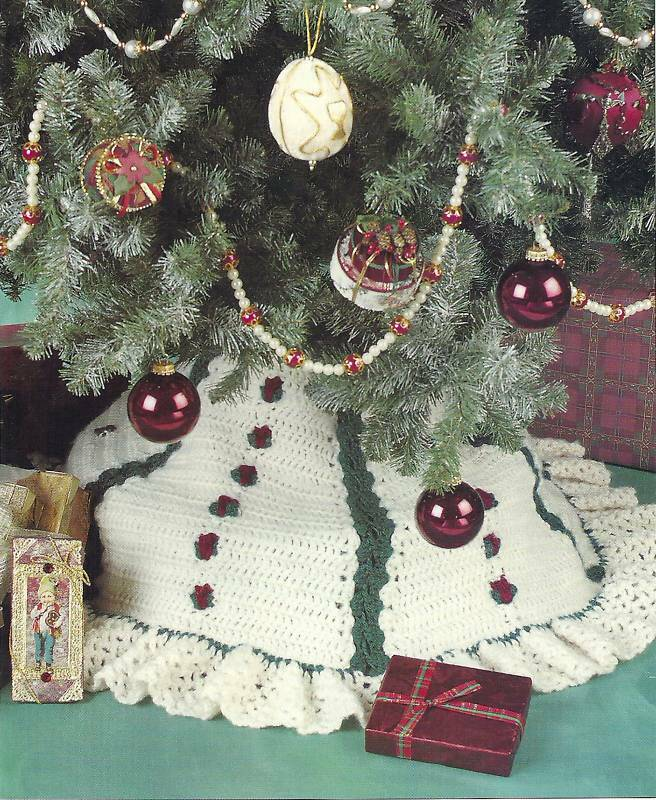 Christmas crochet skirt tree — learn how to