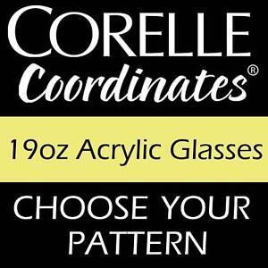 Corelle-Coordinates-19oz-Acrylic-Glass-Set-of-6-NEW