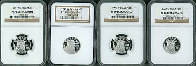 Click now to see the BUY IT NOW Price! 1997-2008 $25 PLATINUM EAGLE STATUE OF LIBERTY NGC PF70 PROOF PR70 COMPLETE SET