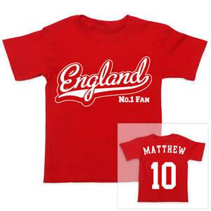 ENGLAND-Football-Personalised-Boys-Girls-T-Shirt