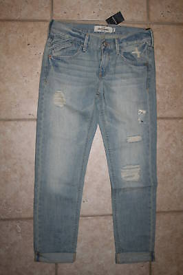 Abercrombie Girls Size 12 Distressed Cuffed Jeans Last One
