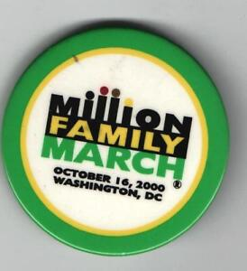 old MILLION Family MARCH pin October 16 2000 Style #B CIVIL RIGHTS