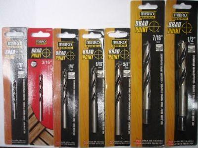 Mibro 7pc Brad Point Drill Bits 1/8 To 1/2
