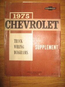 75 Chevrolet Light Med Heavy Duty Truck Wiring Diagrams | eBay