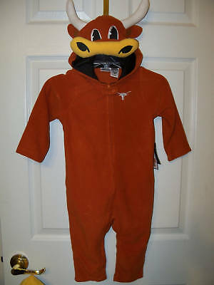 Texas Longhorns Bevo Outfit Costume Boys Girls Toddler 5t