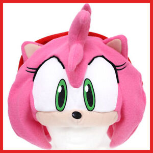 Sonic-AMY-Rose-Plush-Hat-Beanie-Cosplay-Costumes-GE