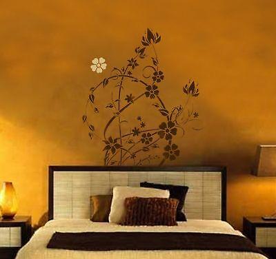 Floral Filigree Large Wall Stencil Reusable Stencil