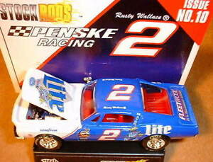 Rusty-Wallace-1997-Miller-Lite-1-64-Shelby-Mustang-Stock-Rod-Error-Recalled-Rare