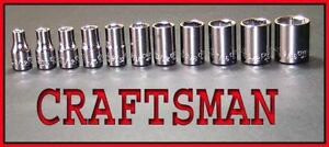 NEW-CRAFTSMAN-Hand-Tools-11pc-1-4-Drive-SAE-socket-set