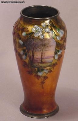 Decorative Arts Other Antique Decorative Arts Art Nouveau French Enamel Silver Vase Signed Sevres H Patine High Quality