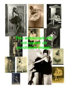 Old-VINTAGE-Antique-BALLET-BALLERINA-Photos-ATC-ACEO