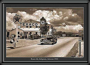 ROUTE 66, Seligman, Arizona 24x24 Electric Art Picture