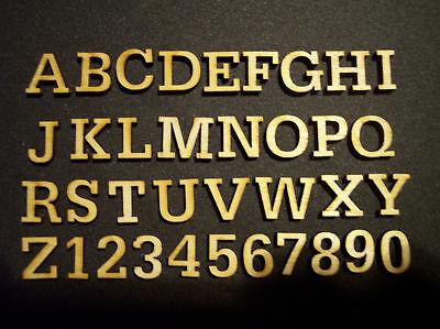 60 Miniature Laser Cut Wood Letters Scrapbooking 0.5