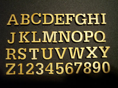 50 Miniature Laser Cut Wood Letters Scrapbooking 0.75