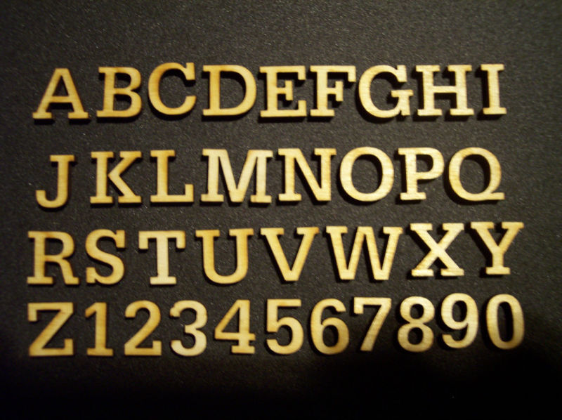 100 Laser Cut Wood Letters Scrapbooking 1.75 Tall.