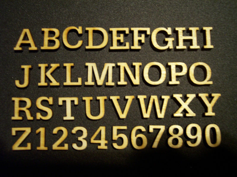 150 Laser Cut Wood Letters Scrapbooking 2.5 Tall.