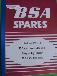 NUEVO-hojas-sueltas-BSA-Recambio-MANUAL-DE-PIEZAS-B31-b33-1949-53-INVALUABLE