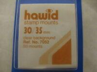 50 Hawid 30/35mm Francobollo Mounts Trasparente - Alto Valore Machin - Forniture -  - ebay.it